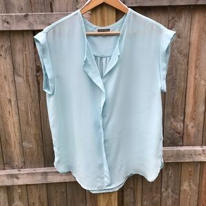 Pleione pop over cuffed short sleeve blouse size L